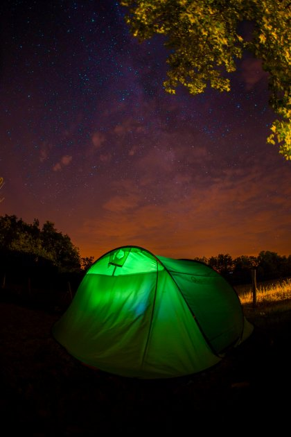 Tente nuit camping